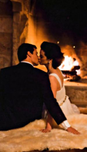 A Fine Romance - Kissing someone special in front of an open fire. #enchantedvalentine
