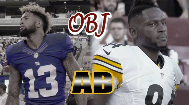 #13. #84.  Odell Beckham Jr. Antonio Brown.  2 of the NFL's best. 1 football field. Today.