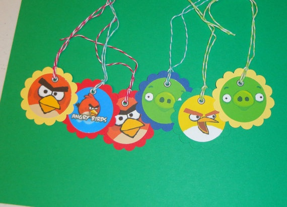 Angry Birds gift tags