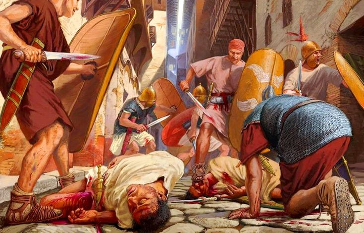 În septembrie am pictat o scenă de luptă urbană din Roma antică din timpul războiului civil condus de Sulla din 87-88 îChr. Ilustrația a fost făcută pentru o revistă italiană de istorie.