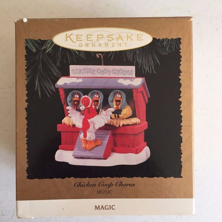 1996 Chicken Coop Chorus Hallmark Christmas Keepsake Ornament Music QLX7491  #HallmarkKeepsakeOrnament
