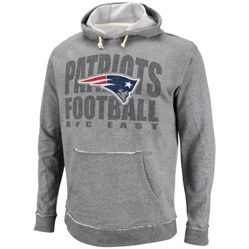 New England Patriots Cold Weather Gear NFL Mens New England Patriots  Crucial Call Ath Gray HeatherNatural Long Sleeve Hooded Sweatshirt ... 33549bdcb