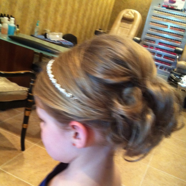 Awesome Flower Girl Updo Dance Hair Addie Pinterest Flower Girl Hairstyle Inspiration Daily Dogsangcom