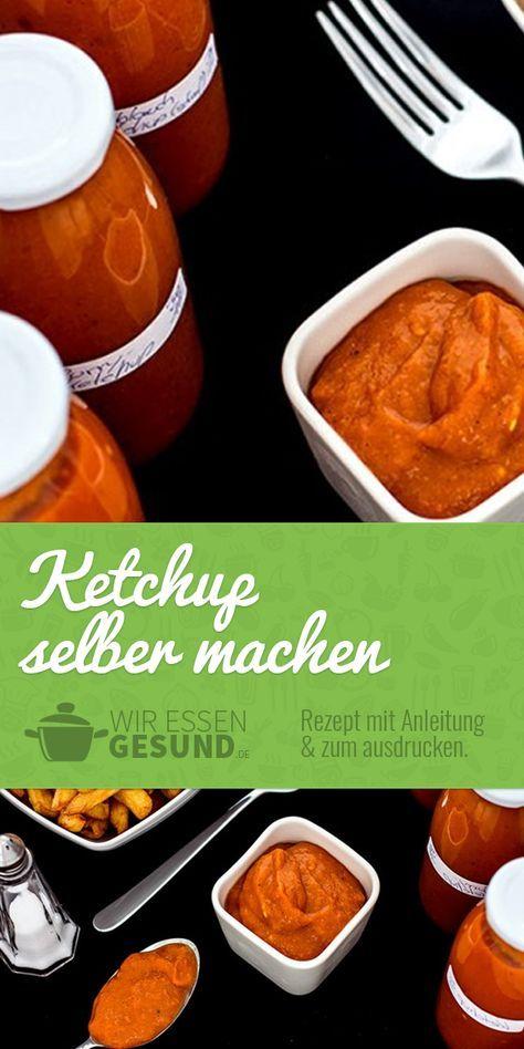 Ketchup selber machen? (Rezept)   Der gekaufte Ketchup schmeckt meist nicht wirklich fruchtig und ist zudem voll mit Zucker. Dabei ist Ketchup selber machen echt einfach! Hier geht's zum Rezept: http://www.wir-essen-gesund.de/ketchup-selber-machen/