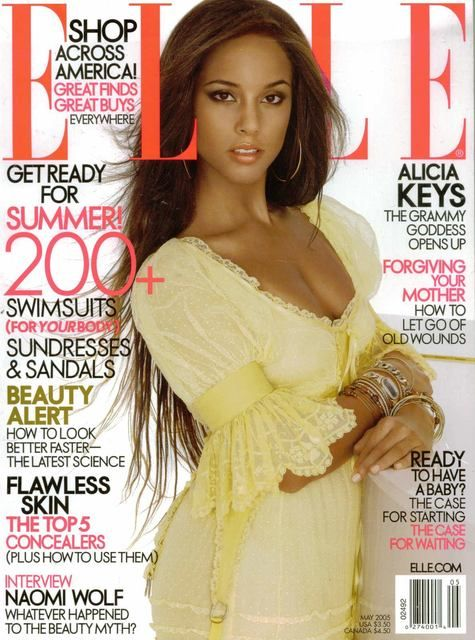 Alicia Keys cover of Elle magazine