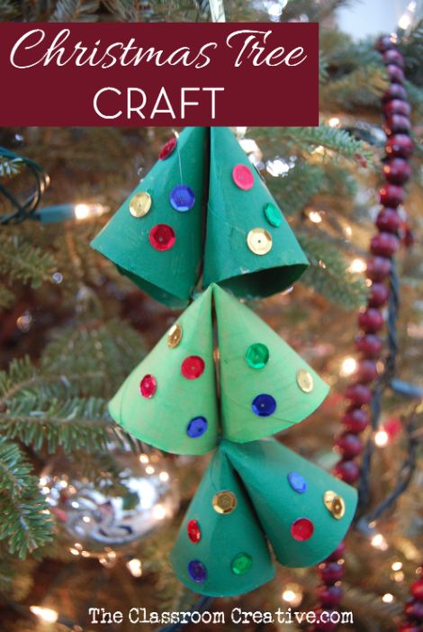 Upcycled Christmas tree ornament made from toilet paper  ~ 043503_Christmas Decoration Ideas Using Toilet Paper Rolls