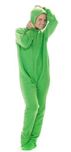 Footed Pajamas offer the best Footed Pajamas Emerald Green Adult Hoodie One Piece - Medium Plus/Wide. #pajamas #footed