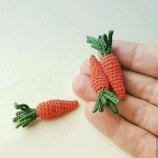 Миниатюра ручной работы. Ярмарка Мастеров - ручная работа. Купить Вязаная морковка миниатюрная еда для кукол. Handmade. Морковка амигуруми