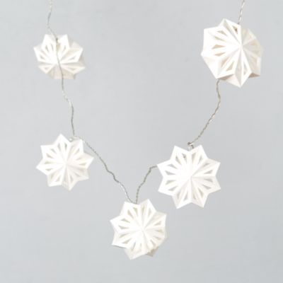 Terrain Swedish Paper Snowflake Lights- I feel like this could be a great DIY decoration.