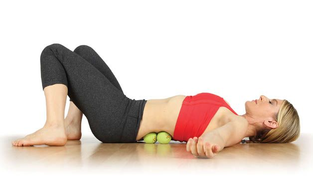 10 Pain-Fighting Moves You Can Do With A Tennis Ball  http://www.prevention.com/fitness/fitness-tips/natural-pain-relief-tennis-ball