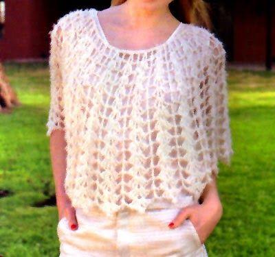 tejidos artesanales en crochet: hermosa capa tejida en crochet (talle unico)