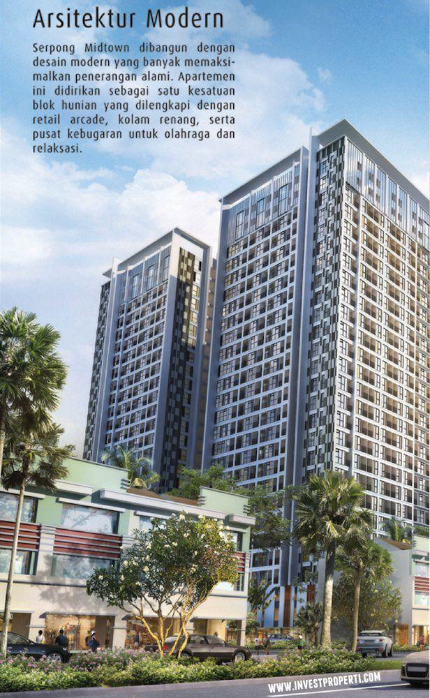Arsitektur Serpong Midtown Residence.