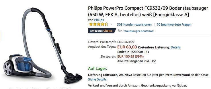 Philips PowerPro Compact FC9332/09 Bodenstaubsauger - jetzt 22% billiger