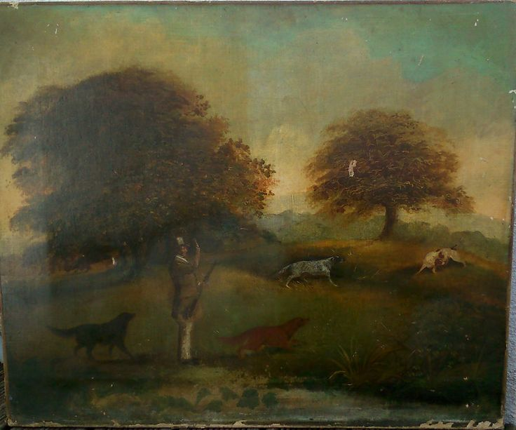 école Anglaise XIXe HST oil on canvas JOHN HENRY MARES  BREWERS SHEPHERD NEAME