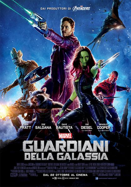 James GUNN, I guardiani della galassia, con Chris Pratt, Zoe Saldana, Dave Bautista, Vin Diesel, Bradley Cooper, USA, 2014