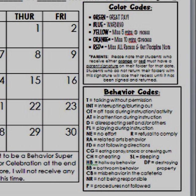 Calendar Kindergarten Zip Code : Best behavior log ideas on pinterest