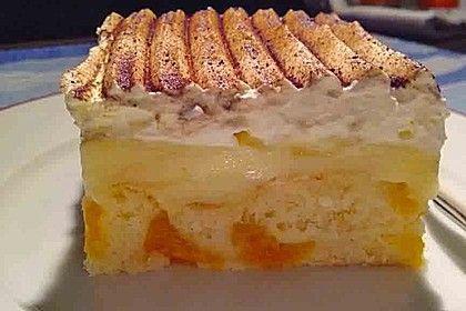 Fanta – Schmand – Kuchen mit Pudding und Mandarinchen