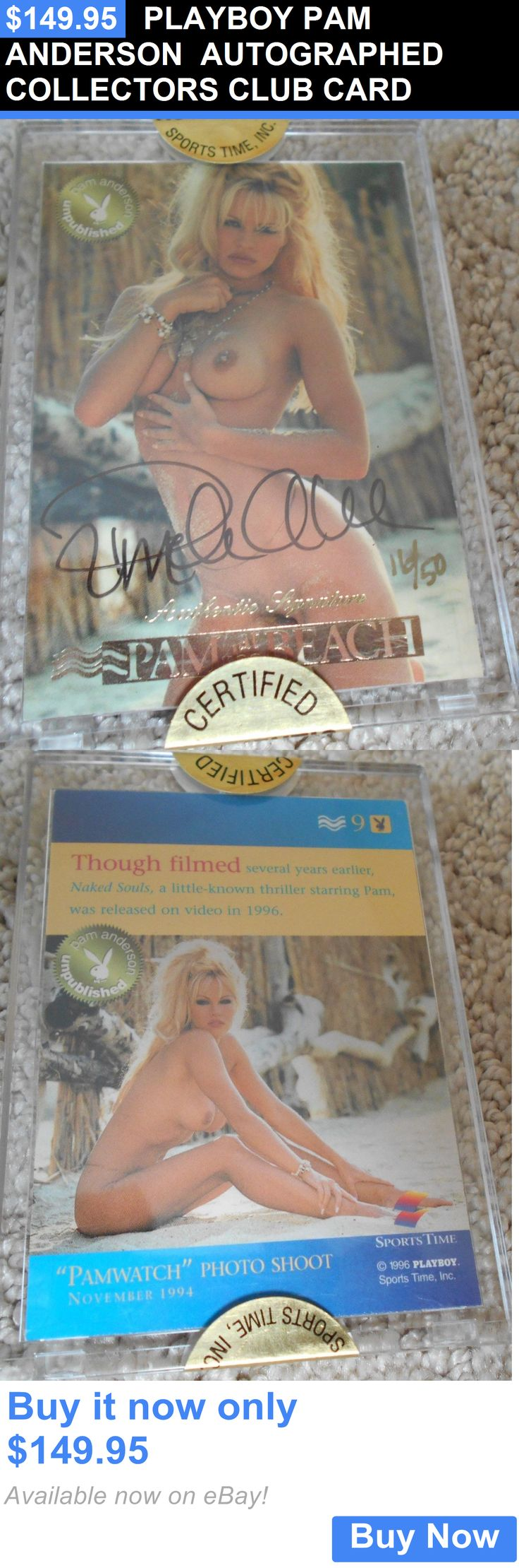 Celebrity Autographs: Playboy Pam Anderson Autographed Collectors Club Card BUY IT NOW ONLY: $149.95
