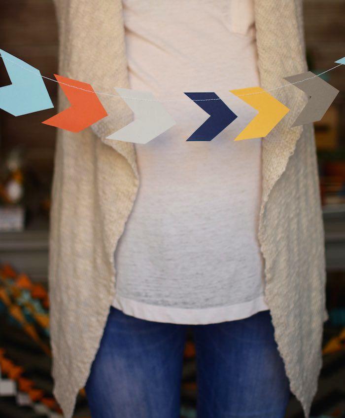 Tribal Little Brave Man themed baby shower via Kara's Party Ideas KarasPartyIdeas.com #tribalbabyshower (8)