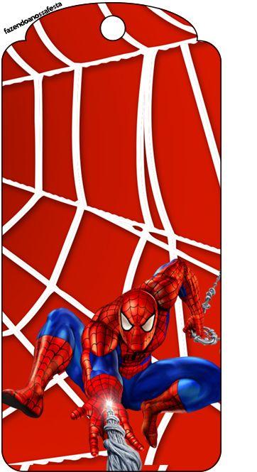 Homem Aranha –  Kit Completo Digital com molduras para convites, rótulos para guloseimas, lembrancinhas e imagens!