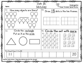 Teks Math Worksheets For Kindergarten on writing numbers, spring addition, common core, end year,