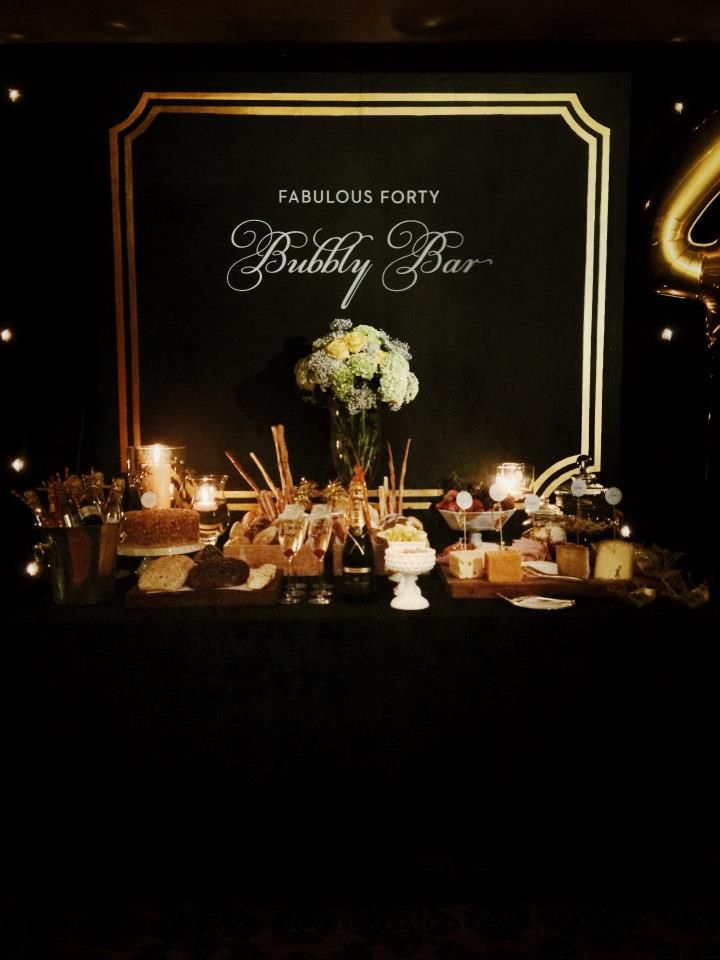 FABULOUS 40th BIRTHDAY PARTY-Black and Gold Glitter Birthday Party