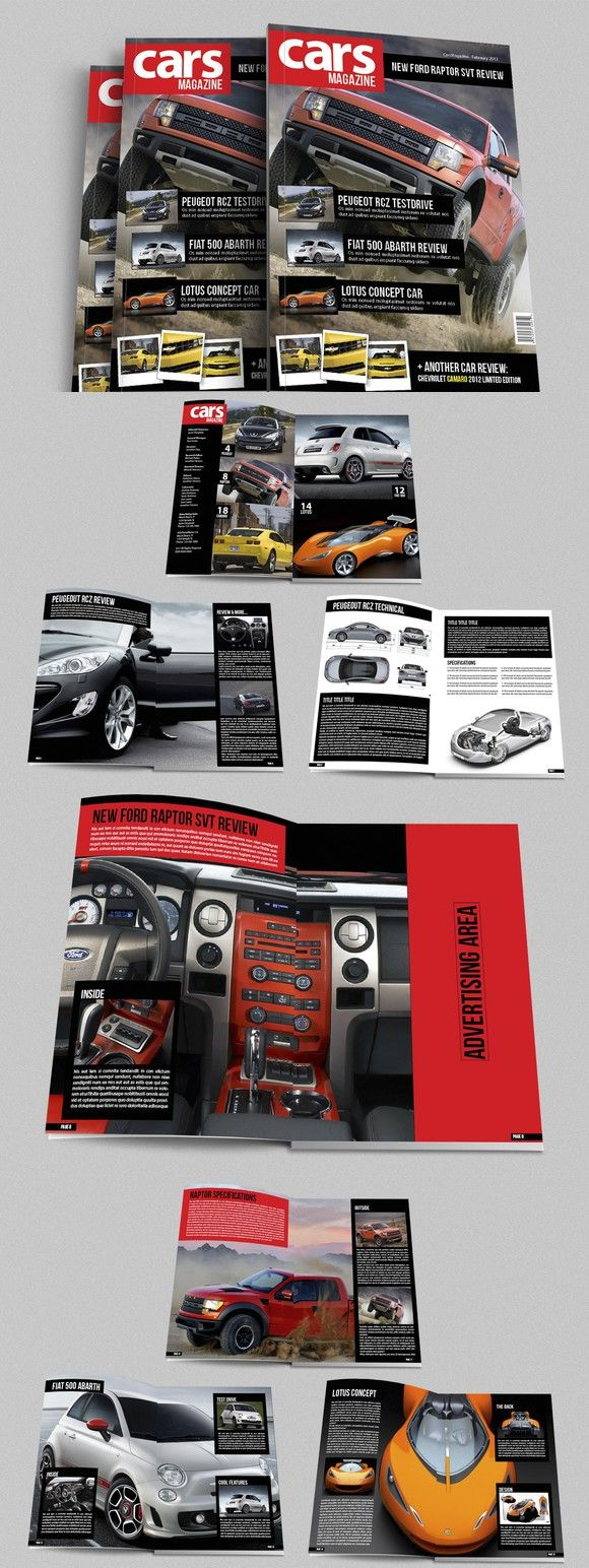 Cars Magazine Indesign Template