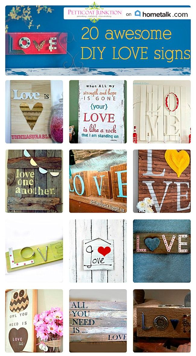 DIY Love Sign Ideas For The Creative Crafter
