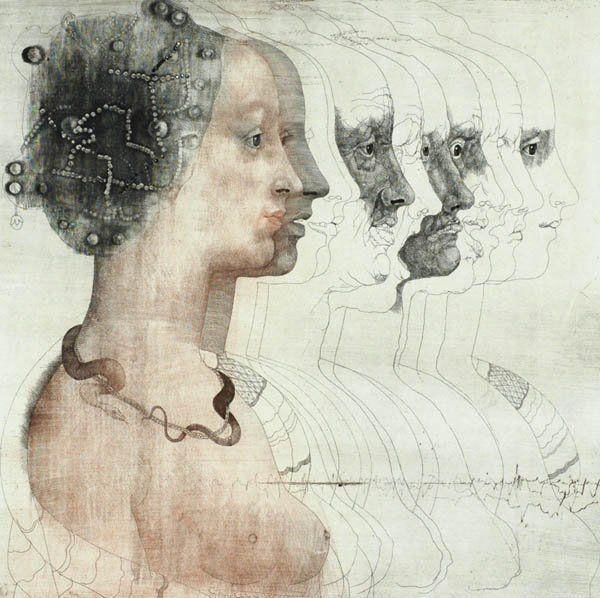 Jiri Anderle, Portrait eines Mädchens nach Veneziano