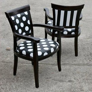 Why don't I have a polka dot board?  polka dots are ALWAYS good...and these chairs are great.