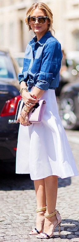 Patched Denim Button Down • Street 'CHIC • ❤️ Babz ✿ #abbigliamento