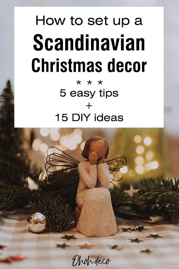 How To Create A Diy Scandinavian Christmas Decor Ohoh Deco In 2020 Scandinavian Christmas Decorations Scandinavian Christmas Christmas Stockings Diy
