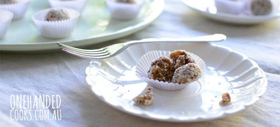 Apricot Coconut Muesli Balls - One Handed Cooks
