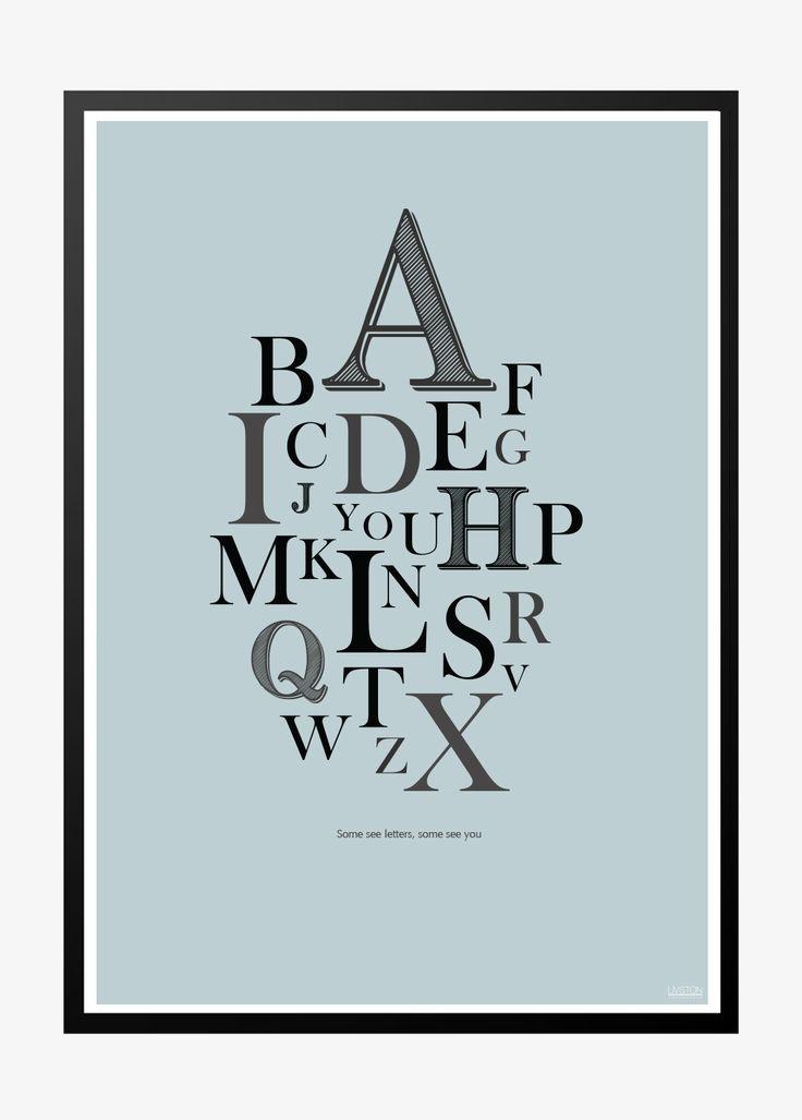 A-Z poster, Blue