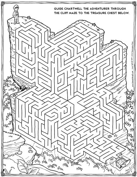 free maze printable
