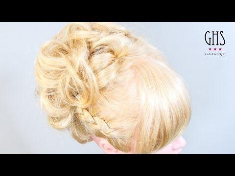 ピアノコンクール用:華やかアップヘアアレンジ - YouTube