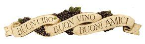 Buon Cibo Italian wall decor plaque and door topper, item 596A