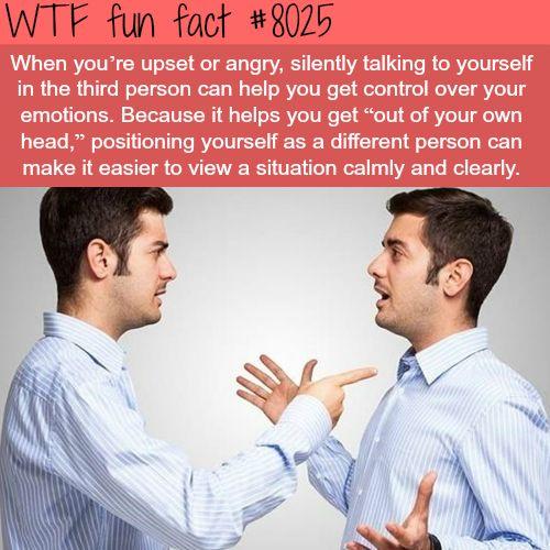 Talking to yourself - WTF fun fact