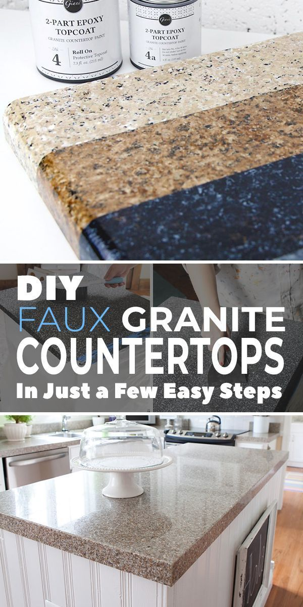 Diy Faux Granite Countertops In Just A Few Easy Steps Faux