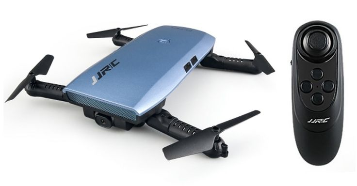 JJRC H47 Elfie Plus drone with G-sensor controller. Thanks to the alt-hold feature, the JJRC H47 is easy to control and allows to take stable selfie videos.