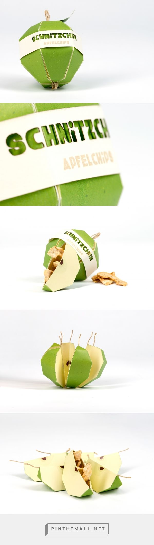 SCHNITZCHEN apple chips by Valentin Zeißner. Source: Bechance. Pin curated by #SFields99 #packaging #design #inspiration #structural #innovation #snacking #health
