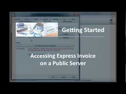 Express Invoice Invoicing Software | Using the Web Interface -- This tutorial will show you how to set up the web interface feature of Express Invoice. The web interface can be accessed online from any location making it useful for businesses that need to give multiple users access, or need to access data and create invoices while on the road.