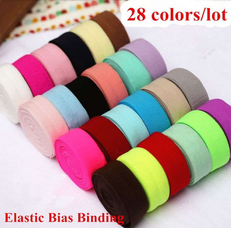 32 colors/lot  Spandex Bias Binding 20mm*32m Elastic trim tape 0.6''  clothes hat craft patchwork seam underwear free shipping-in Webbing from Home & Garden on Aliexpress.com | Alibaba Group