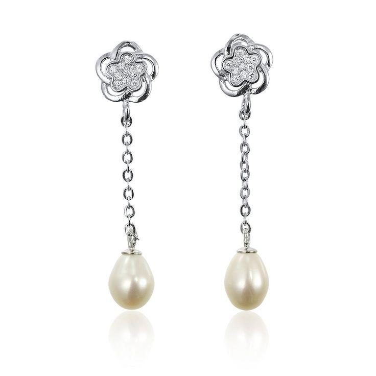 Cercei argint Surub Drop Earrings Zirconii si Perla Cod TRSE006 Check more at https://www.corelle.ro/produse/bijuterii/cercei-argint/cercei-perle/cercei-argint-surub-drop-earrings-zirconii-si-perla-cod-trse006/