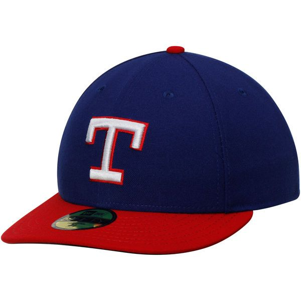 Texas Rangers New Era Authentic Collection 1980 Turn Back the Clock 59FIFTY Fitted Hat - Royal/Red - $26.99