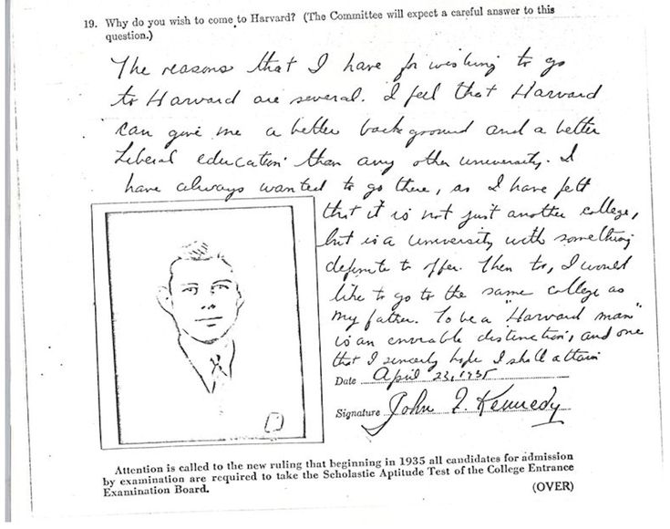 best harvard application ideas top colleges  here s the 5 sentence personal essay that helped jfk get into harvard