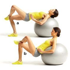 15-Minute Workout: Fresh Flat Belly Moves http://www.womenshealthmag.com/fitness/stability-ball-exercises