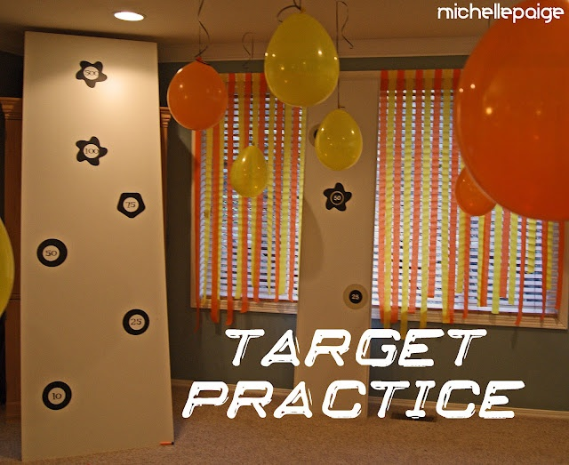 Suction dart target practice wall