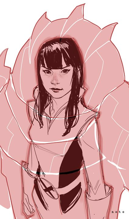 Armor ~ art by Phil Noto