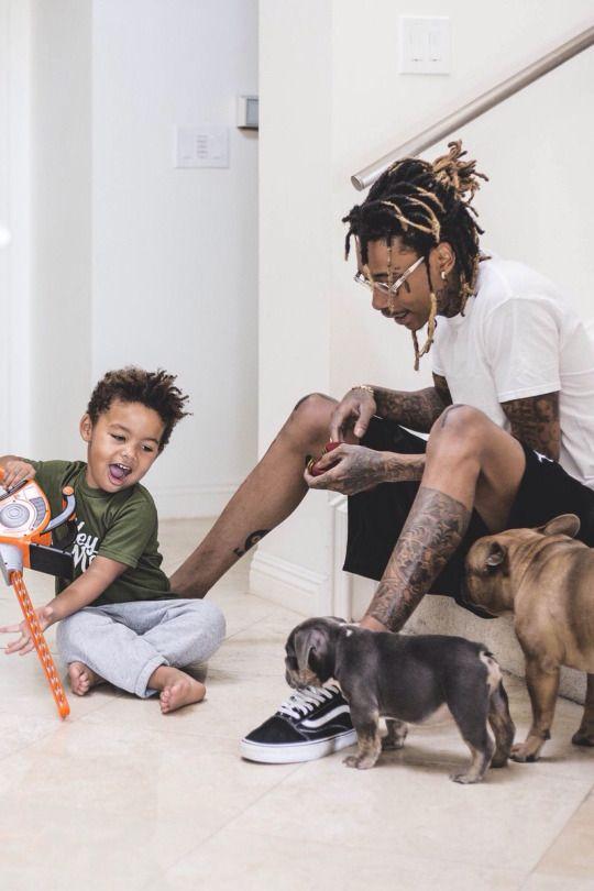 Wiz Khalifa with his son Bash